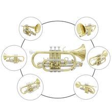 Профессиональный Bb плоский латунный Корнет с чехол для хранения Перчатки Ткань смазки кисточки комплект для концертной практики