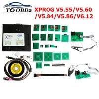 XPROG-M 6.12 caixa de metal xprog v5.55 v5.86 xprog v6.12 v6.17 auto ecu rogrammer ferramenta x prog caixa 5.55 5.86 6.12 6.17 adaptadores completos