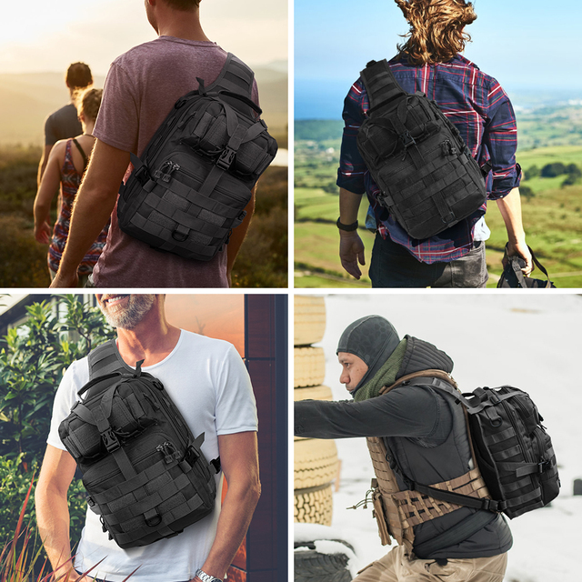 20L Tactical Assault Pack Military Sling Backpack Army Molle Waterproof EDC Rucksack Bag for Outdoor Hiking Camping Hunting 6