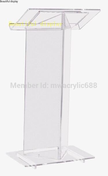 Muebles púlpito envío gratis alta calidad barato atril de acrílico transparente acrílico púlpito plexiglás