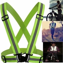 Practical High Visibility Reflective Vest Outdoor Motorcycle Cycling Running Safety Vest Adjustable Durable Reflective Clothing цена