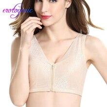 Lenceria Crop Top Women Zipper Underwear Soprt Bra Side Lace Sports Bra Full Cup Bra Vest Tops Lenceria Mujer женское белье