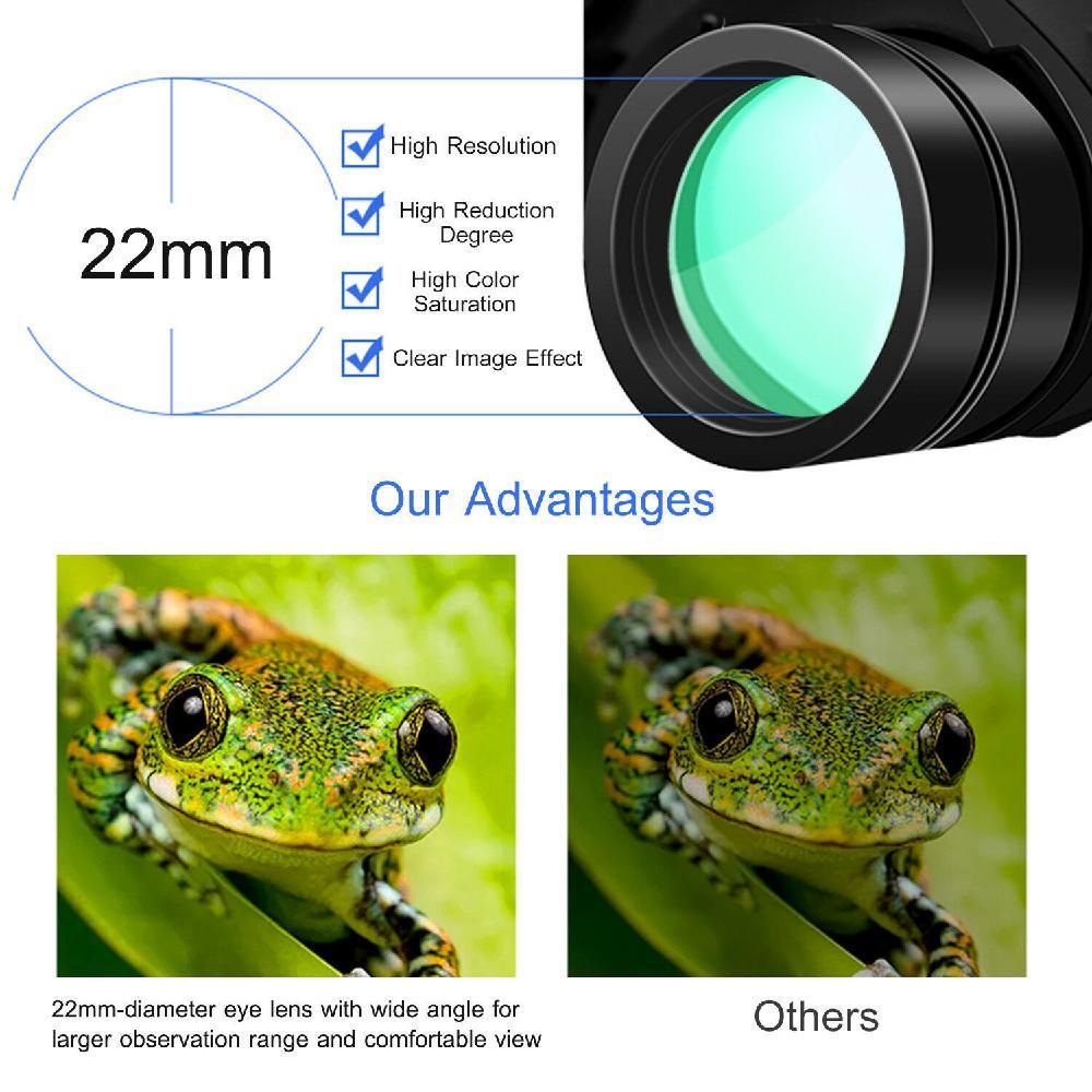 X 100 zoom dia visão noturna binóculos