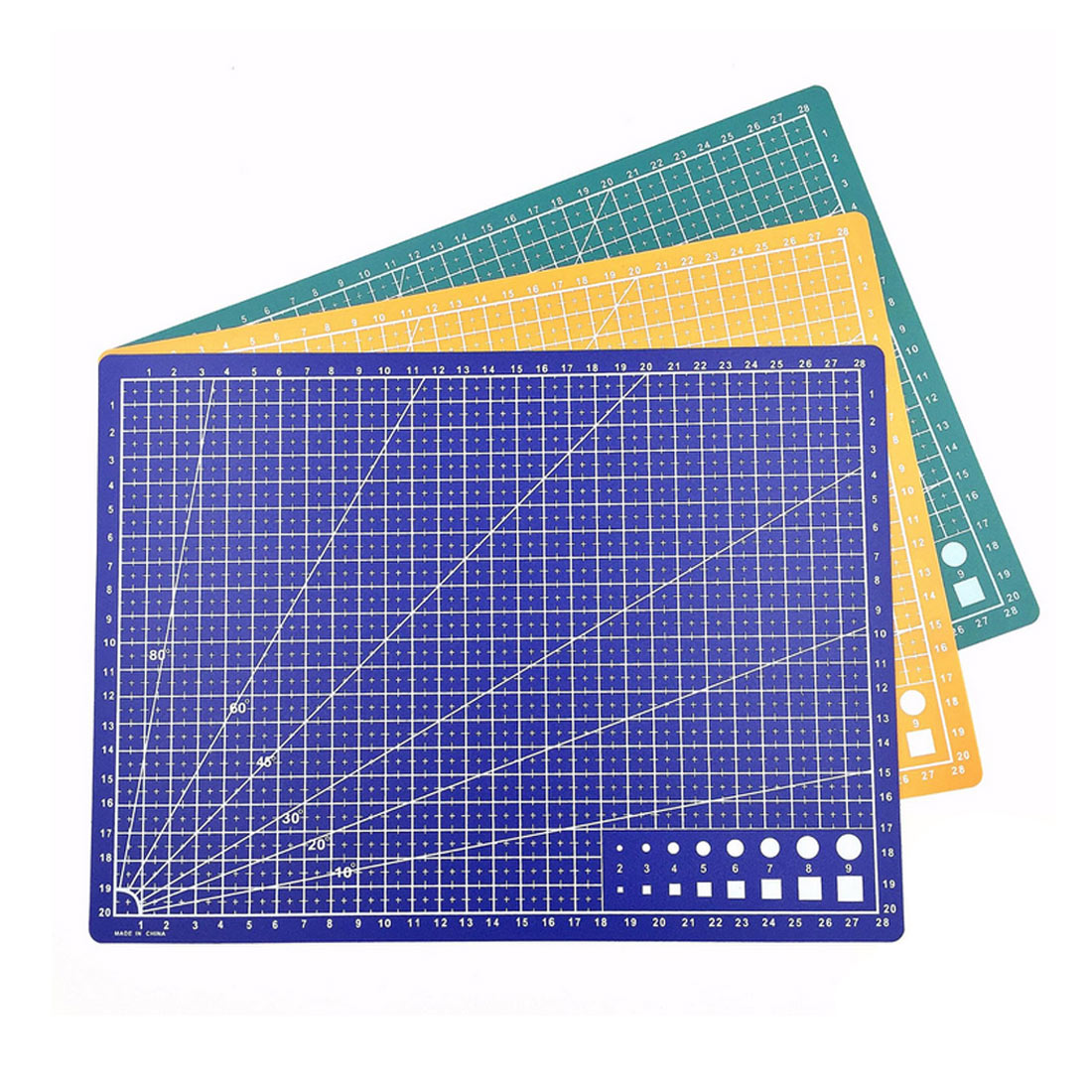 A4 Grid Line Self-healing Cutting Pad Craft Card Cloth Leather Cardboard Sewing Tool PP Cutting Mat Pad Patchwork Cut Pad