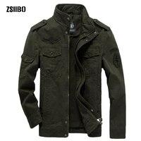 Plus Size Military Jacket Men Autumn Cotton Army Solid Mens Jackets and Coats Fashion Armband Bomber Jacket Male M 6XL WGJK05