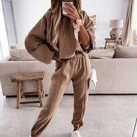 Sudadera con capucha y manga de murciélago para mujer, ropa deportiva con cordón de cintura alta, color blanco, Otoño, 2021