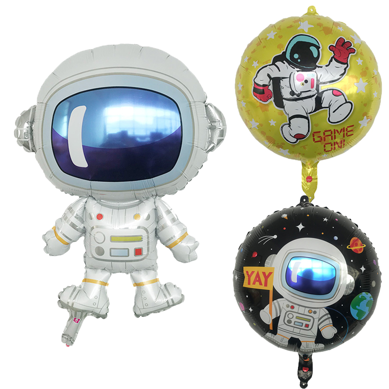 1pcs new alien cartoon spaceman aluminum balloon children's day party decoration puppy dog baby toy balloon high quality(China)