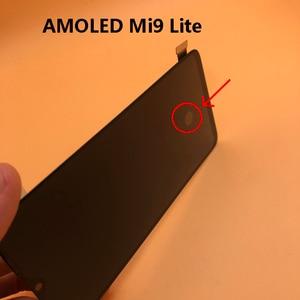 Image 3 - Yeni AMOLED LCD parmak izi XIAOMI Mi cc9 / MI 9 LITE LCD ekran dokunmatik ekran Digitizer meclisi değiştirme MI9LITE