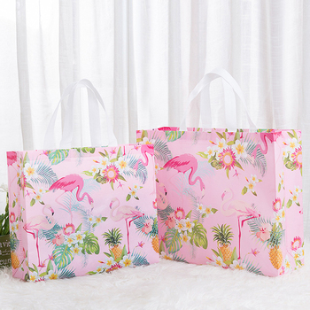 2020 New Flamingos Flowers Reusable Shopping Bag Foldable Non-woven Tote Pouch Eco Shopper Bags Travel Grocery Bag Shopping Bags hot new 7 colors tropical fish foldable eco reusable shopping bags 38cm x58cm