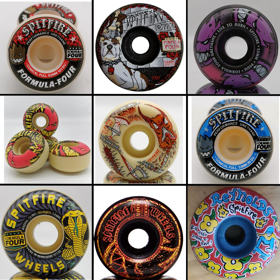 Ruote da skateboard Spitfire originali 52mm 101duro 53mm 54mm 99 ruota da skateboard duro per skateboard