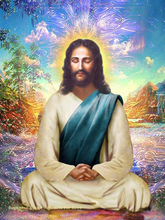 Jesus 5D DIY Diamond Painting Religion Mercury  Embroidery Rhinestone Picture Complete Mosaic Decoration Gift