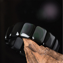 Drop Shipping Natural Rainbow Eye Obsidian  Bracelets For Women Men Gifts Crystal Fine Jewelry