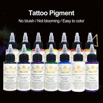 Muti kolory 30 ml butelka T-hurtownia odzieży on-line moda t-o-o atramentu Professional t-hurtownia odzieży on-line moda T-o-o pigmentu pół-stałe t-hurtownia odzieży on-line moda t-o-o dla ciała narzędzia artystyczne tanie i dobre opinie Tattoo Pigment