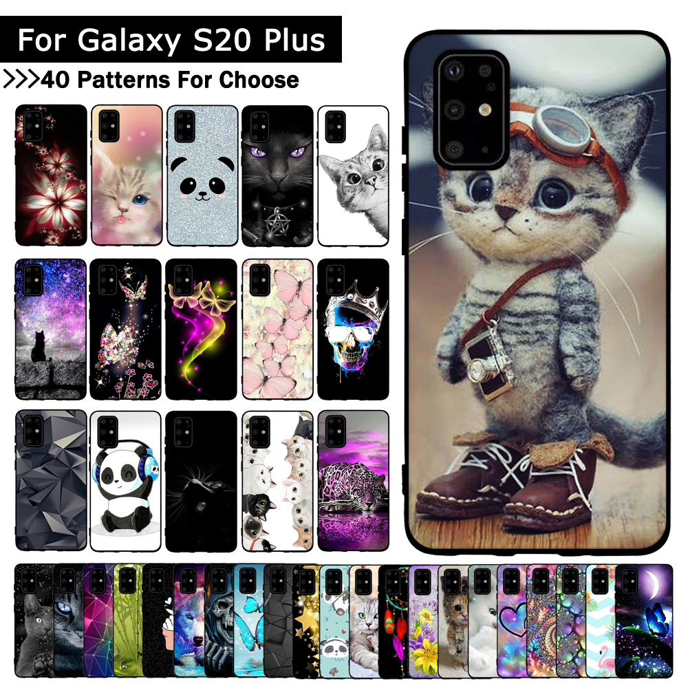 For Samsung Galaxy S20 Plus Case Fashion Silicone Soft TPU Back Cover Coque For Samsung S20 Ultra S 20 Phone Cases
