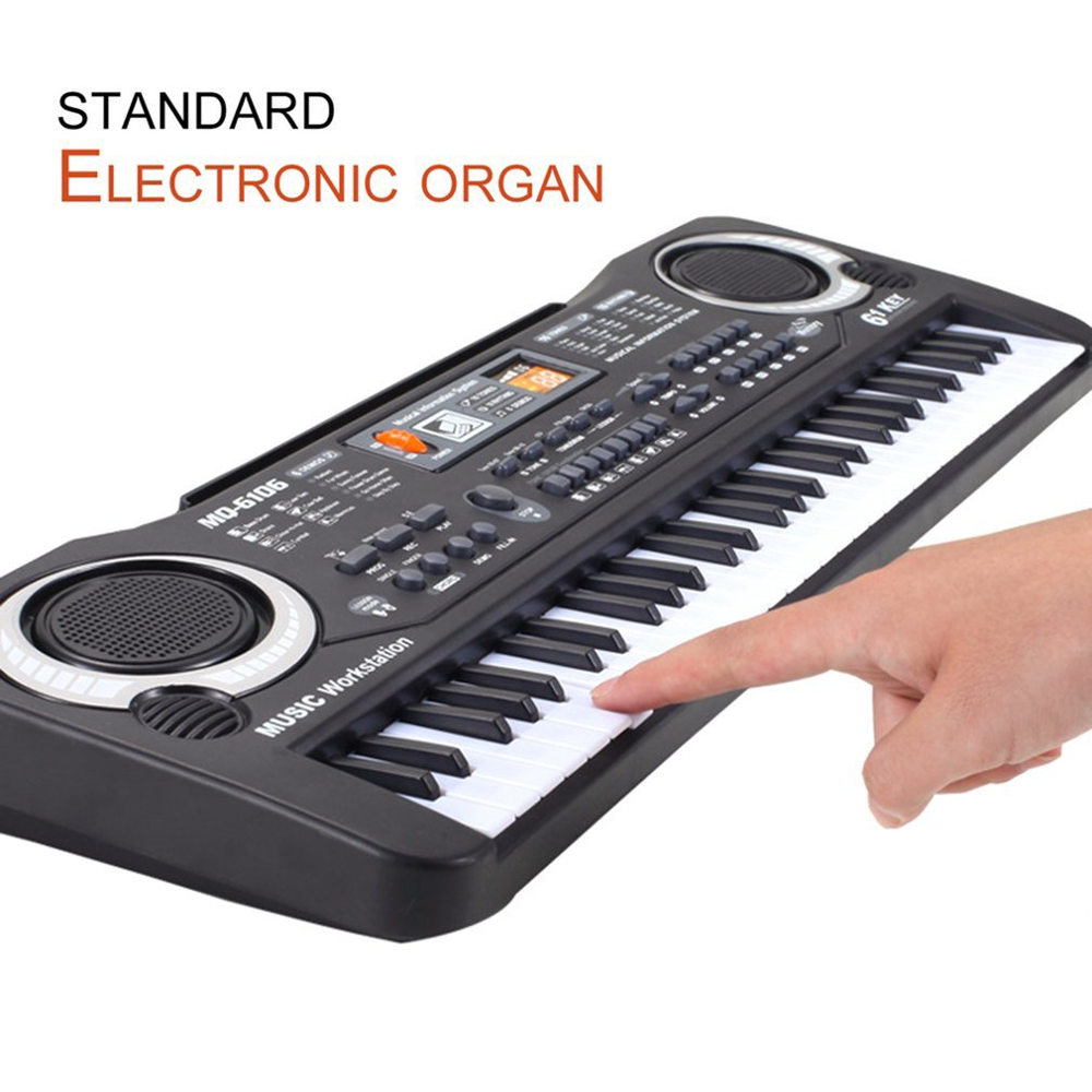 61 Keys Electronic Music Keyboard Electric Organ With Microphone Children Musical Instrument Early Educational Tool For Kids