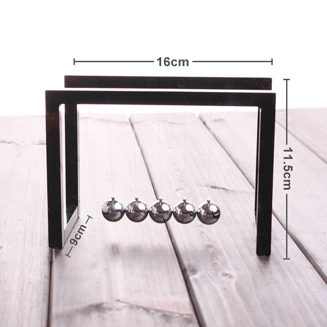 Newton Balls Cradle Balance Ball Newtons Pendulum Ornaments Home Decorations Desk Decoraction Toy Gift Black 5