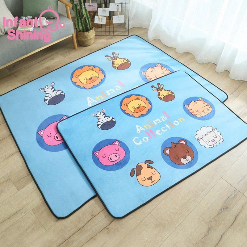 Bébé brillant bande dessinée bébé tapis de jeu épais daim salon tapis enfants enfants chambre tapis couverture écologique - 3