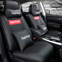Full Coverage Eco leather auto seats covers PU Leather Car Seat Covers for Toyota RAV4 C HR IZOA CAMRY HYBRID COROLLA HYBRID LEV|Automobiles Seat Covers| |  -