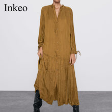 Повседневное женское длинное платье весна осень 2020 женские