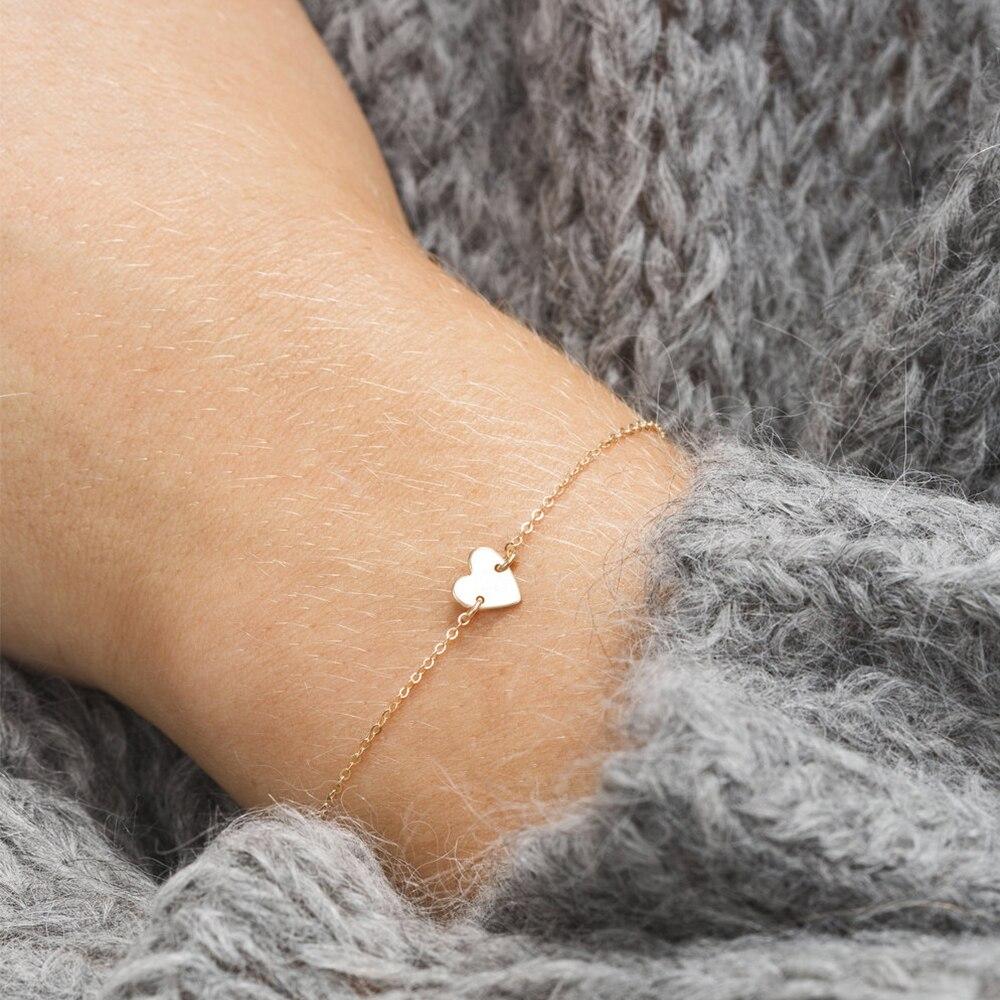 eManco DIY Stainless Steel Bracelets for women Adjustable Chain Charm Bracelet 2 piece Set women Custom