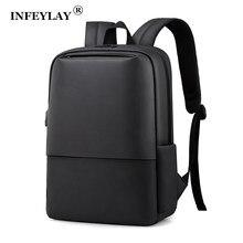 Infylay homens negócios mochila de viagem à prova dwaterproof água portátil mochila moda estudante escola mochilas saco digital nova mulher