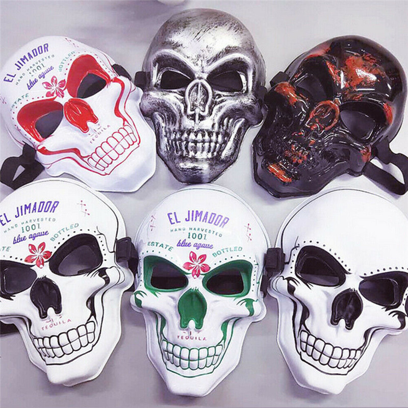 Halloween Cosplay Mask Halloween Scary Full Face Mask Skull Skeleton Carnival Costume Party Cosplay Ghost Mask  For Adults Teens