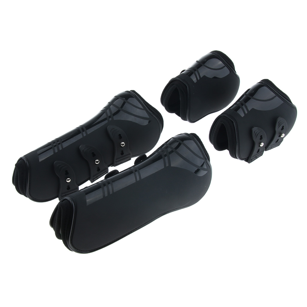 Horse Legs Splint Boots Front Hind Leg Tendon And Fetlock Protector Boot, PU Shell And High-Quality Neoprene