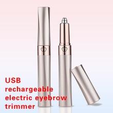 Electric Eyebrow Trimmer Makeup Painless Eye Brow Epilator Mini Lipstick Shaver
