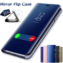 Smart Mirror Flip Cover For Huawei P20 P30 Lite Pro Y9 Y6 P Smart 2019 Mate 20 lite Case Honor 20 10 9 Lite 8X 7A 7C Cases(China)