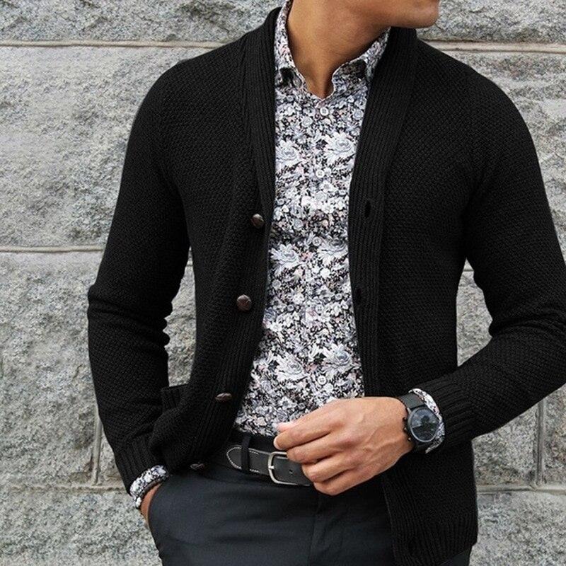 2021 брендовый кардиган, свитер, Мужская Уличная одежда, модный свитер, пальто, мужской теплый кашемировый шерстяной кардиган на осень и весну