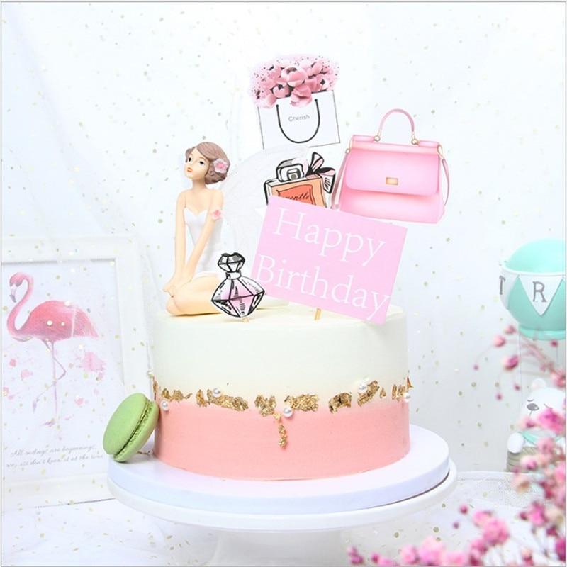 Pleasant Cakelove 1Set Perfume High Heels Cake Toppers Diy Cupcake Topper Funny Birthday Cards Online Necthendildamsfinfo