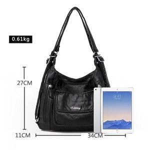 Image 4 - Sıcak deri lüks çanta kadın çanta tasarımcısı çok fonksiyonlu omuz çantaları kadınlar için 2020 seyahat sırt çantası Mochila Feminina Sac