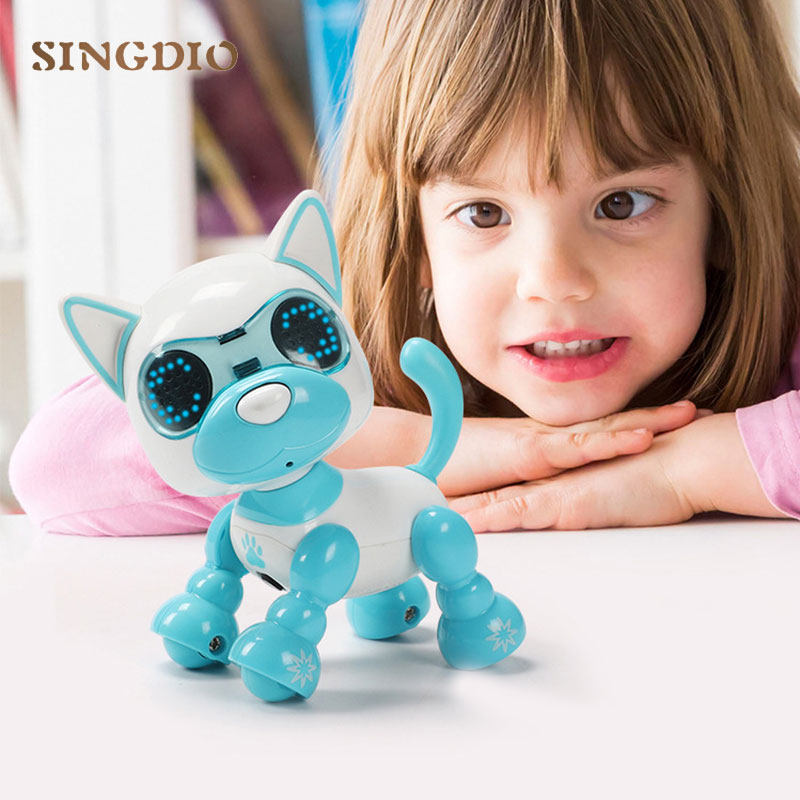 Interactive Barking Electronic Animals Gifts Baby Toys Pet Battery Dancing Dog Robot Walking Puppy Toy For Children Kids