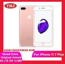 Usado desbloqueado testa bem apple iphone 7 mais telefone móvel 4g lte impressão digital telefone 32gb/128gb/256gb telefone celular 12.0mp câmera