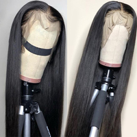 13x4 Lace Front Human Hair Wigs With Elastic Band Peruvian Hair Straight Non Remy Human Hair Lace Frontal Wigs Pre plucked