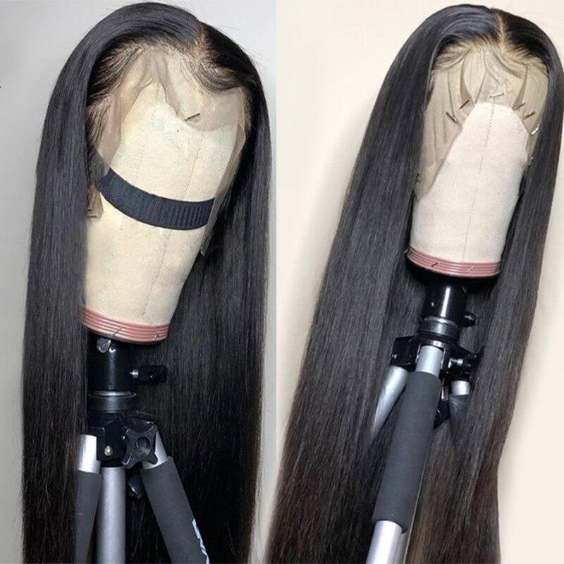 13x4 Parte Dianteira Do Laço Perucas de Cabelo Humano Com Elastic Band Cabelo Peruano Reta Não Remy Do Cabelo Humano Lace Frontal perucas Pré arrancadas