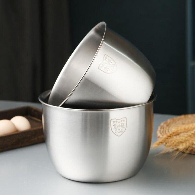 Cozinha de aço inoxidável 304 tigela mistura design profundo cozinhar cozimento bolo pão salada misturador da cozinha tigela