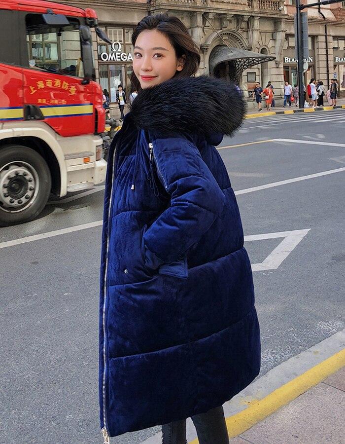 2019 High Quality Winter Jacket Women Velvet Fabric Hooded Thicken Fur_A4_5