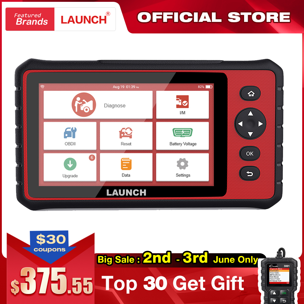 LAUNCH X431 CRP909E Full System Car Diagnostic Tool OBD2 Code Reader Scanner Airbag SAS TPMS EPB IMMO 15 Reset Functions CRP909