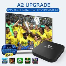 цена на 2020 newest htv box brasil BOX HTV6 BTV Brazilian português TV A3 TV BOX Live IPTV Movie HTV BOX 6 Brazil 4K HD Media Player