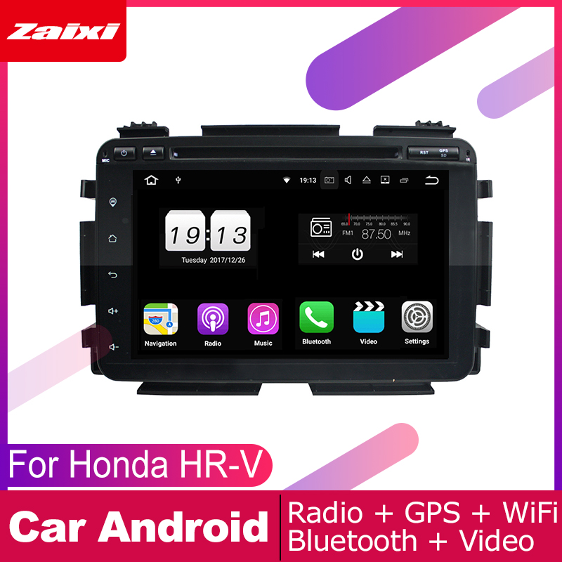 ZaiXi For Honda HR-V HRV 2014~2019 <font><b>Car</b></font> <font><b>Android</b></font> Multimedia System 2 DIN Auto DVD Player GPS Navi Navigation Radio <font><b>Audio</b></font> WiFi image