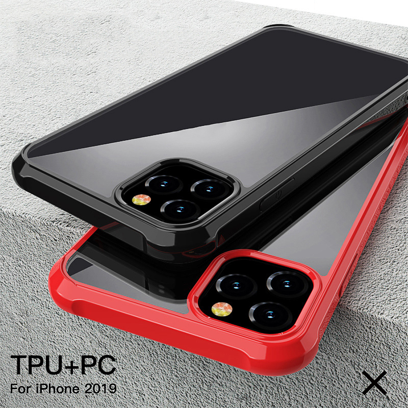 2019 NEW Clear Soft TPU+PC Phone Case Shockproof Color Protective Cover For Iphone 11/11Pro/11Pro Max (US STOCK)