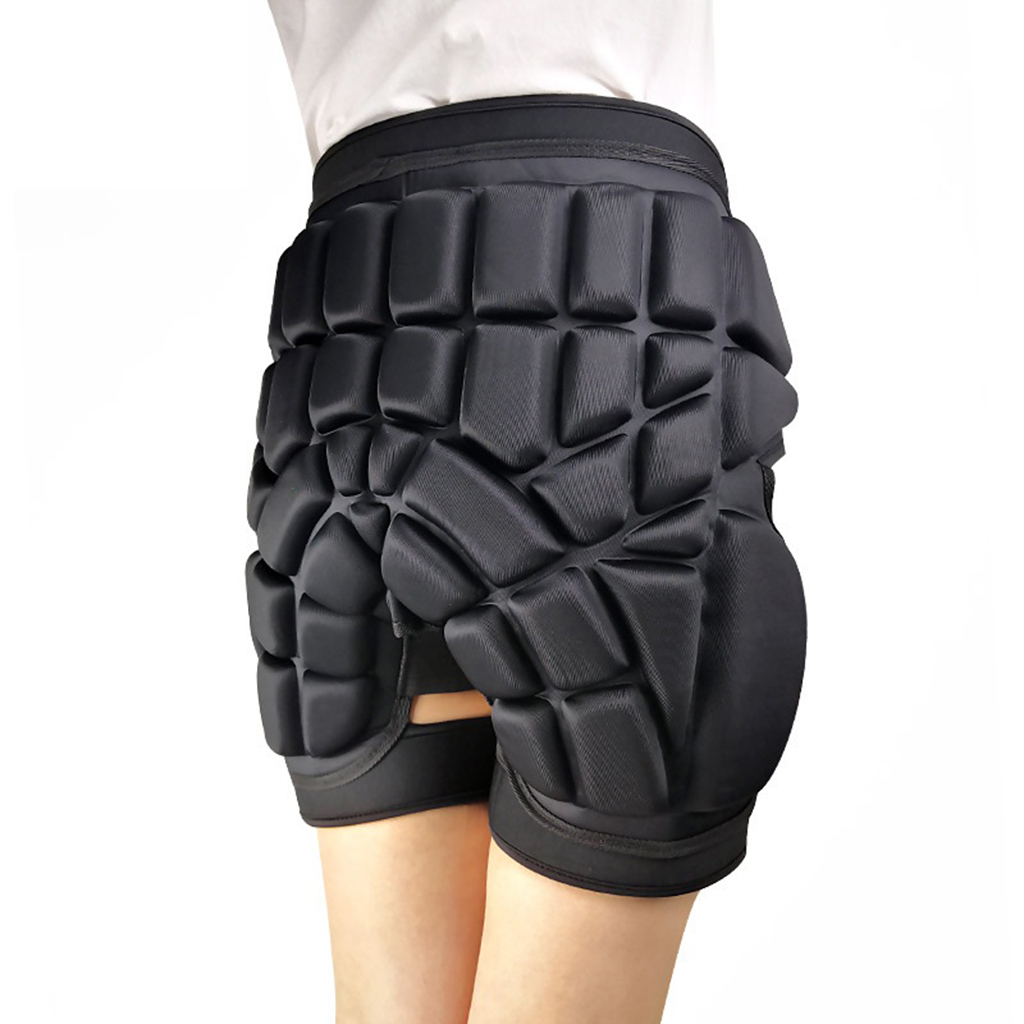 Protective Padded Shorts 3D Protection Hip Bufor Ski Skate Cycling Padded Hip Protective Shorts