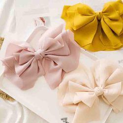 Floral Solid Large Bow Barrettes Korean Chiffon Three Layers Hair Clip Women Girls Hair Accessories Hairpins Cute Sweet Headwear