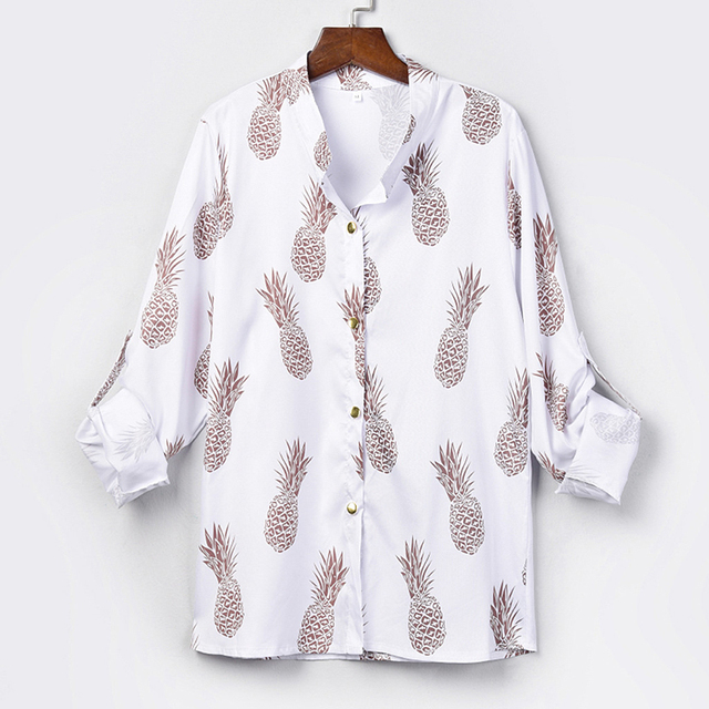 Pineapple Blouse Women's Shirt  2