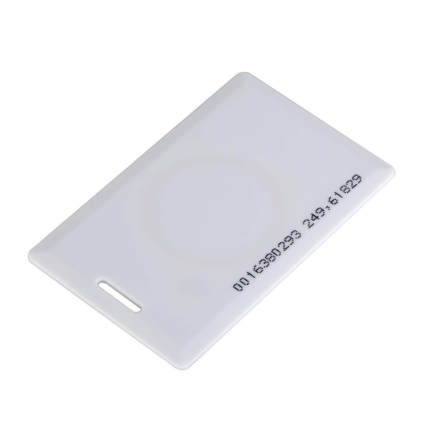 10 pces lêem somente o cartão 125 khz em4100 branco 1.8mm do em do rfid para o cartão de controle de acesso da segurança do leitor da proximidade do acesso da porta