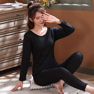 New Style Fu He Rong Thermal Underwear Women's Soft And Thick Thermal Storage Base Shirt Elasticity Body Hugging [Multi-color]
