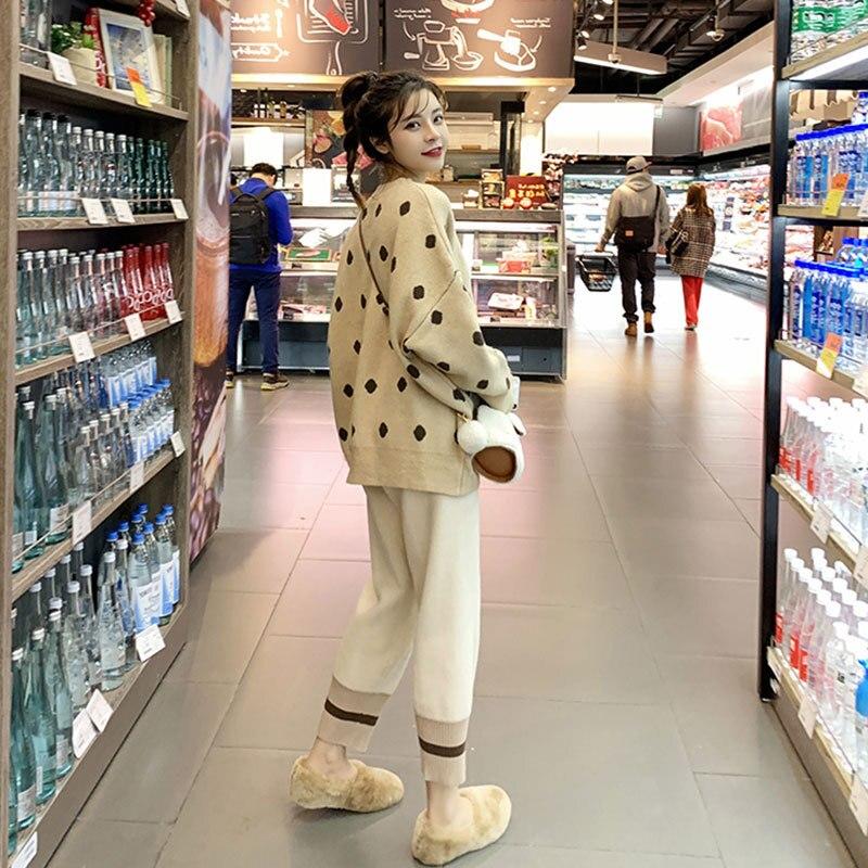 2019 Early Autumn WOMEN'S Suit Korean-style Early Autumn Graceful Western Style Online Celebrity Elegant Slimming Mao Yi Ku Two-