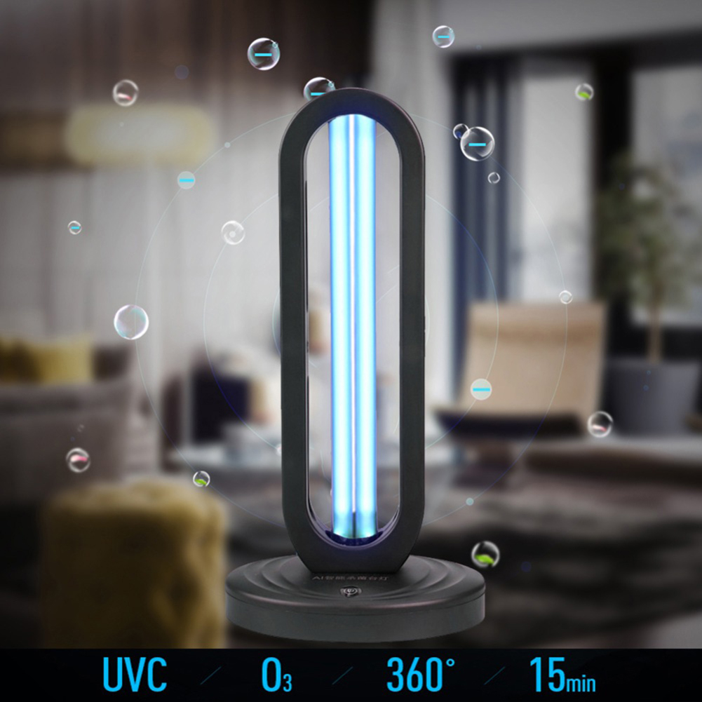 360° Germicidal UVC Sterilizer Features:    1. Sterilization, disinfection and removal of mites. 2. UV + ozone, no dead angle for sterilization. 3. Purify the air, remote control through the wall, control the number of times. 4. Suitable for various occasions: home, school, hospital, restaurant.