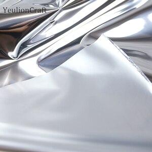 Image 2 - Chzimade 50x137cm srebrne lustro odblaskowe tkaniny wodoodporne ubrania kreatywne ubranie dwustronne srebrne lustro TPU tkaniny